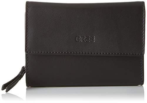 BREE Collection Damen Liv New 110, Black Smooth, Long Purse Geldbörse, Schwarz, 2.5x10x14.5 cm