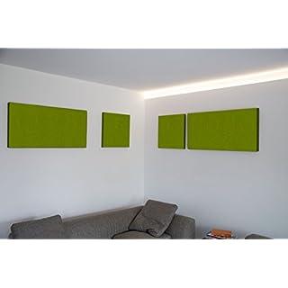 FrankenArt Pinnwand aus Akustikschaumstoff und Filzstoff zur Raumklang-Verbesserung in 5cm Dicke 110 cm x 55 cm