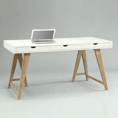 Schreibtisch holz weiß  lounge-zone Schreibtisch Sekretär ARIZONA weiß buche Holz 3 ...