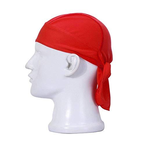 FREEMASTER Sports Bandana Cap Schwarz Rot Weiß Herrem Damen Biker Bandanas Kopftuch Hat (Rot) -