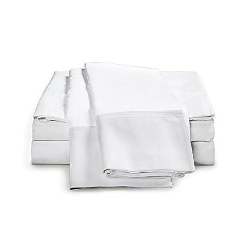 eLuxurySupply 100% ägyptisches Baumwoll-Blatt-Set - 1000 Fadenanzahl | Single Ply - Sateen Weave | Set enthält ein Flat Sheet, ein Fitted Sheet & zwei Kissenbezüge