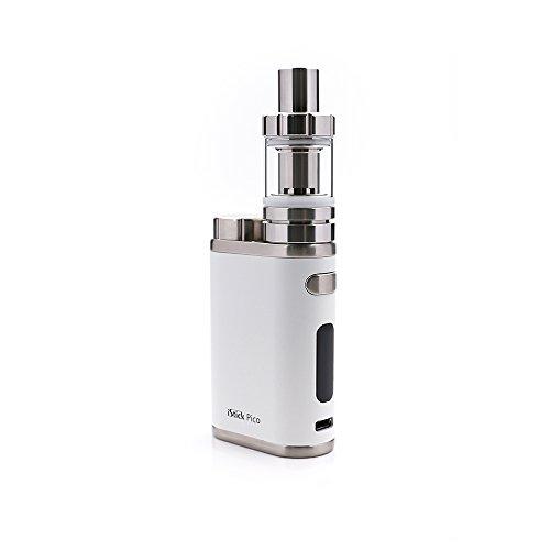 Preisvergleich Produktbild E Zigarette,  Eleaf iStick Pico 75W TC Full Kit,  Vape Kit with TC Mod Box,  Riesiger Dampf Elektronische Zigarette Kit,  Keine Flüssigkeit,  Kein Nikotin (weiß)