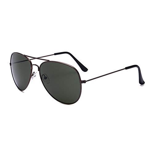YOURSN Fashion Designer Sonnenbrillen Männer Vintage Pilot Sonnenbrillen Männer Frauen Metallrahmen Sonnenbrillen Aviator Mirror Retro Eyewear-Green