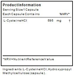 Cysteine Amino Acid Nutritional Supplements