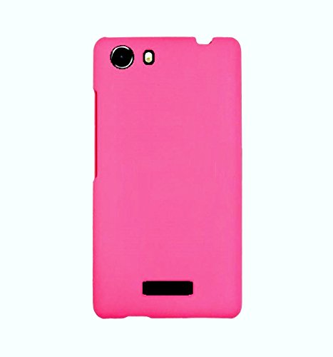 WOW Imagine(TM) Rubberised Matte Hard Case Back Cover for MICROMAX UNITE 3 Q372 (Pink)  available at amazon for Rs.169