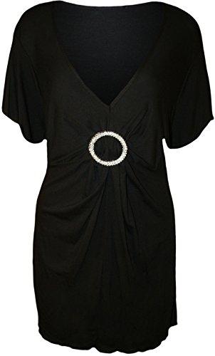 Funky Fashion Shop Damen Kleid Schwarz