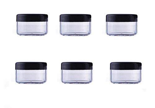 24PCS 10ml / 15ml / 20ml Durchsichtiger Kunststoff Leerer nachfüllbare Probenflasche Fall Cosmetic Vial Jar Pot Behälter Flasche mit schwarzem Schraubverschluss Deckel (15ml/0,5oz)
