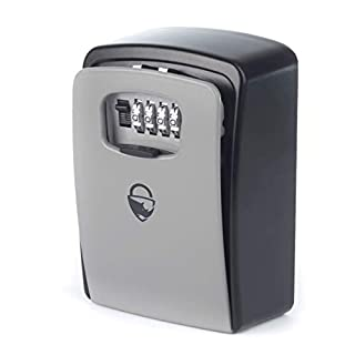 Rhino Lock Secure Key XL Combination Safe - Outdoor Heavy Duty Wall Mounted Security Lock Box - XL Large Internal Storage for House or Office Keys with Strong 4 Digit Lock #UKBrand (Large, Grey).