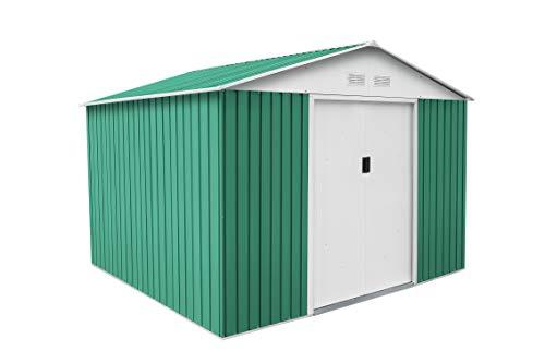 GARDIUN OUTDOOR, S.L.U. KIS12804 - Caseta Metálica Bristol, Acero Galvanizado, 7.74 m², 321 x 241 x 205 cm, Verde