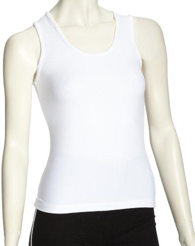 Curare Haut sans manches Col en U Femme Blanc