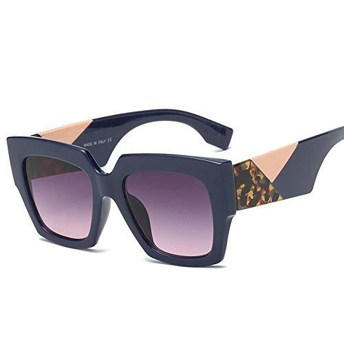 ZHOUYF Sonnenbrille Fahrerbrille Fashion Square Übergroße Sonnenbrille Damen Sonnenbrille Damen Herren Retro Brille Uv400, D