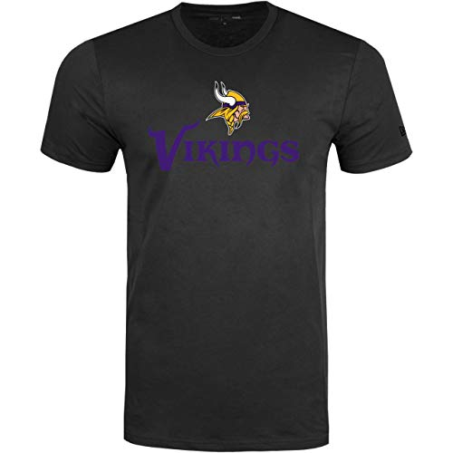 New Era Minnesota Vikings T Shirt Stacked Logo Tee Black - 3XL (Shirt Vikings-damen Minnesota)