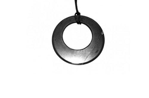 Karelian Heritage Schungit Anhänger Double Circle. Schutz Stein. Schungit und höchste Qualität Garantie. 2Pcs