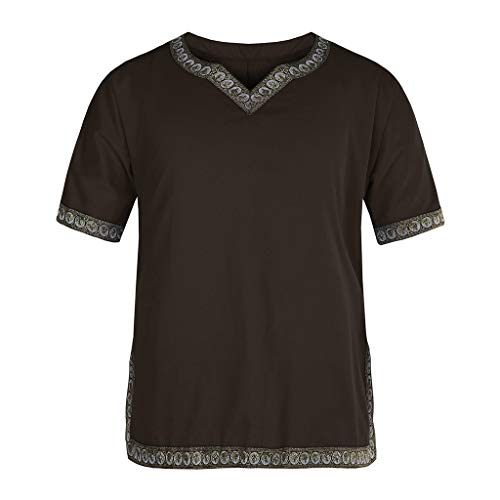 JYJM❤️ Jacke Herren Winter lang Herren Mantel Jack Herren African Dashiki Slim Fit Print Kurzarm Casual T-Shirt Tops Bluse Herren Winter Jacke Steppjacke Winterjacke gefüttert mit Stehkragen