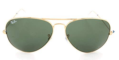 Ray Ban Unisex Sonnenbrille Aviator Metal, Einfarbig, Gr. Large (Herstellergröße: 62), Gold (001)