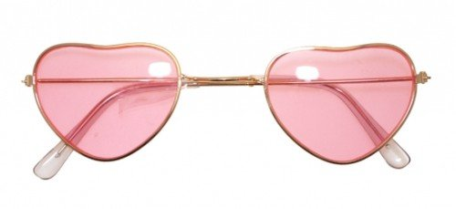 Heart Shaped Hippy Specs for fancy dress