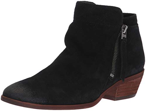 Sam Edelman Damen Packer Stiefelette Schwarze Velourslederoptik 7.5 M EU Packer Boot