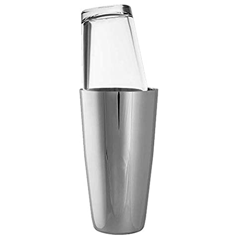 Boston Cocktail Shaker 30oz - High Grade 18/8 Japanese Steel Shaker Tin with Matching Glass