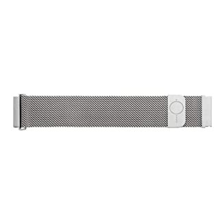 BandOh-20mm-Milanaise-Uhrenarmband-Silber-mit-Magnetschliee-Quick-Release