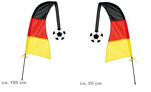 behör Windfahne Deutschland Sport Fan 100cm (Wind Kostüm)