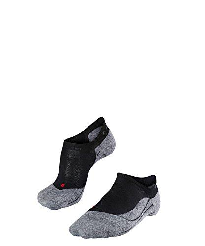 FALKE TK5 Invisible Damen Trekking Füsslinge / kurze Wandersocken - schwarz, Gr. 39-40, 1 Paar, Merinowolle, leichte Polsterung, feuchtigkeitsregulierend -
