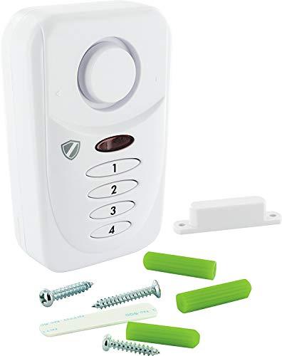 SCHWAIGER -5491- Tür- Fenster- Alarm mit PIN/Alarmanlage fürs Haus/Sirene /...