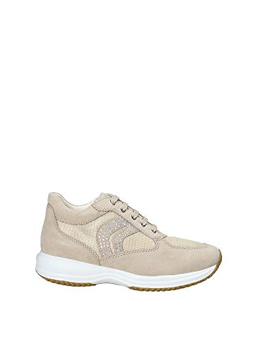 Geox D5462C Sneakers Donna Taupe Chiaro/Champagne 36