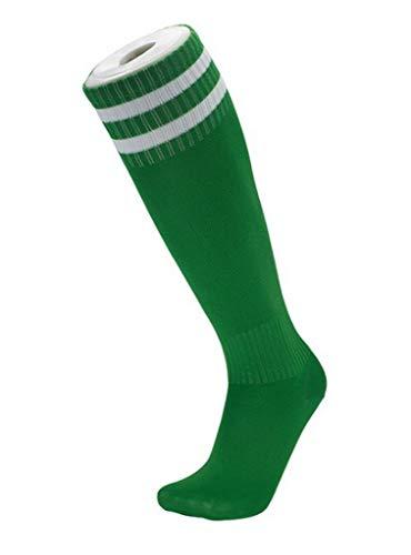 COMVIP Sportsocke Fussball Socken Strümpfe Laufsocken Trekkingsocken Socken Füßlinge Kind Gr.26-35 Grün