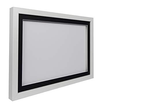 hadow Display Bilderrahmen A329,7x 42cm, weißer Rahmen, schwarzes Passepartout, Weiß Rückwand ()