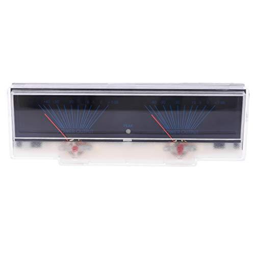 Pannello Amplificatore di Potenza Doppio misuratore analogico VU Livello Audio Db Meter con Backlit