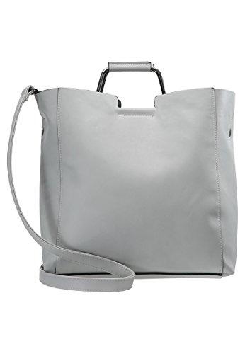 Even&Odd Handtasche mit Metallhenkel & herausnehmbarer Pochette als Innentasche, Grau, One Size