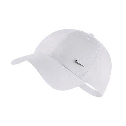 Nike Herren Cap Swoosh Mütze, White/Metallic Silve, One Size