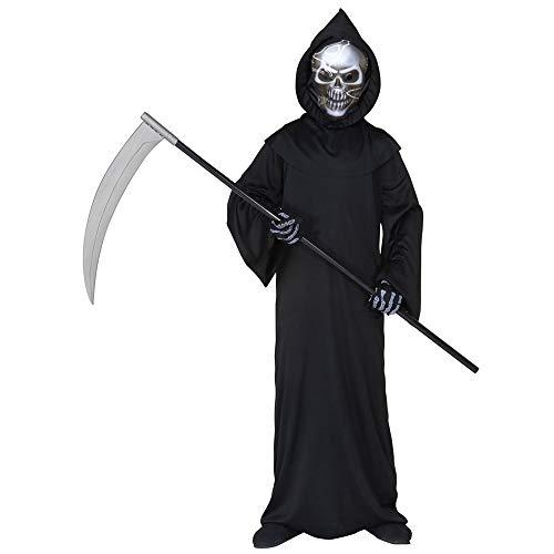 Widmann 55507 - Kinderkostüm Dämon, Umhang und Maske, Größe 140 (Helloween Kostüm)