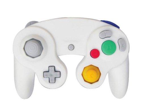 Manette de jeu analogique vibrante blanche pour console Nintendo Gamecube et Wii