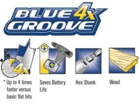 Irwin 10502814 4X-Speed Blue Groove Flat Bit 22mm