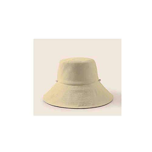 KUQIQI Hut, Visier, Fischerhut, Strandhut for den Sommer im Freien, UV-Schutz-Sonnenhut, Sonnenhut, Cooler Hut, literarischer Hut, doppelseitige Abnutzung, beige -