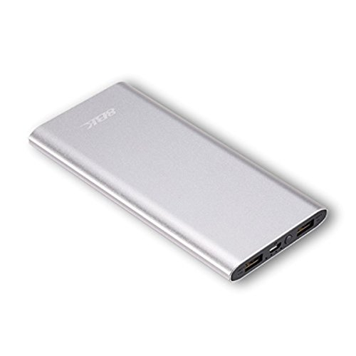 8BK Metallic Ultra Slim Lightweight Power Bank (Silver), Scratch and Dust Proof with LED Battery Indicator - (MAKE IN INDIA) (10000 mAh) - 870-10S