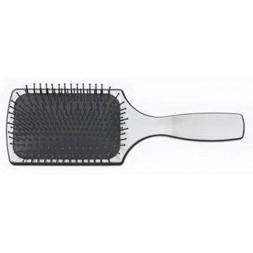 Paddle Brush Silber (Paddle Brush 13reihig m. Nylonst. u. Noppen, Körper Alu besch.,)