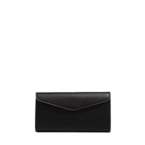 Lange Brieftasche Holding Beutel Damen Tasche Einfache Umschläge Brieftasche Brieftasche Freizeit Mode Black