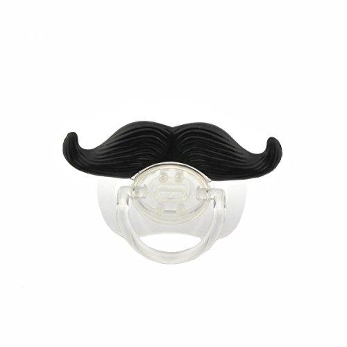 Pixnor divertente carino baffi stile Baby Boy ragazza infantile ciuccio succhietto massaggiagengive ortodontico barba fittizio capezzolo