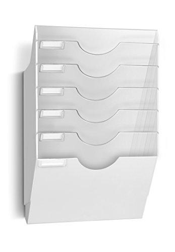 CEP 1001530021 Wand-Prospekthalter 6 Fächer CepExpo 153, weiβ/glasklar