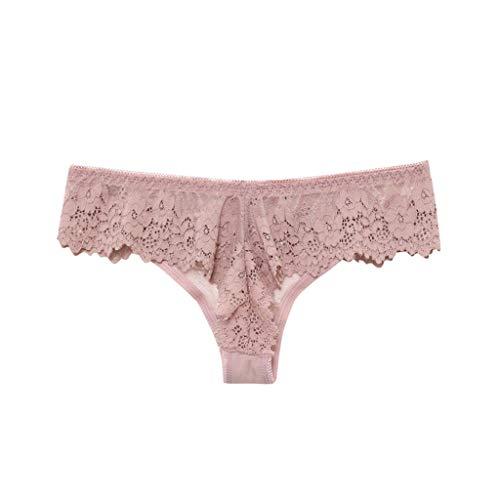 SuperSU Frauen Sexy Spitze Tanga Mit Mittlerer Taille, Damen G-String Slips Höschen Lace Knicker Unterwäsche Dessous