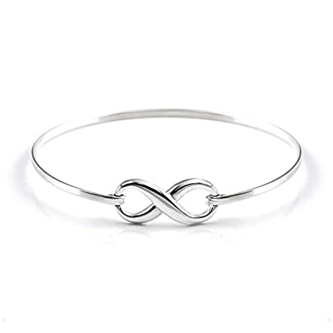 Silverly Women's .925 Sterling Silver Infinity Symbol