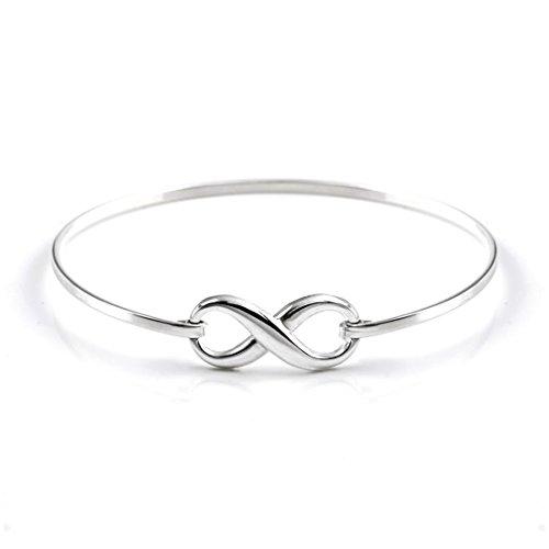 Silverly Bracelet Femmes en Argent 925 symbole d'infini 8