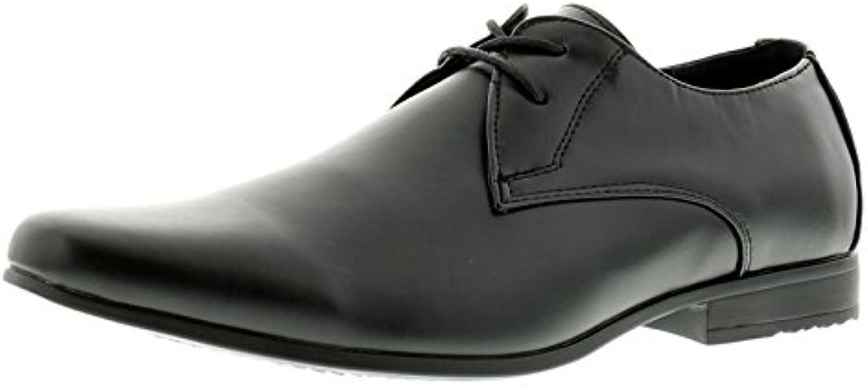 Business Class Neu Herren/Herren Schilling schnürbar Förmliche Schuhe Schwarz   UK Größen 6 12