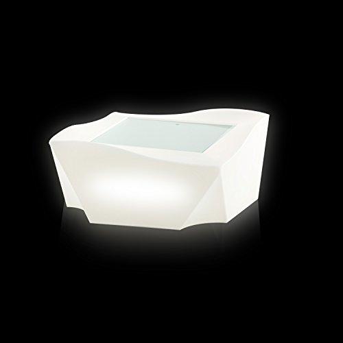 Slide Kami Ni Light Table basse lumineuse Blanche brillante
