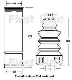 Fpk7084Firstline Strut kit de protection OE Qualité