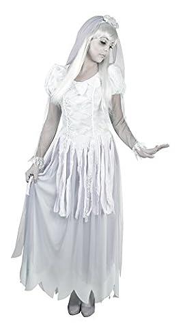 erdbeerloft - Damen Karnevalskomplettkostüm Geister Braut , Weiß, Größe M