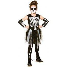 Skelebones Girl's Costume Skeleton Halloween Fancy -