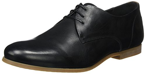 Royal Republiq Cast Shoe W/Honey Sole Base, Derbys Homme Schwarz (Black)